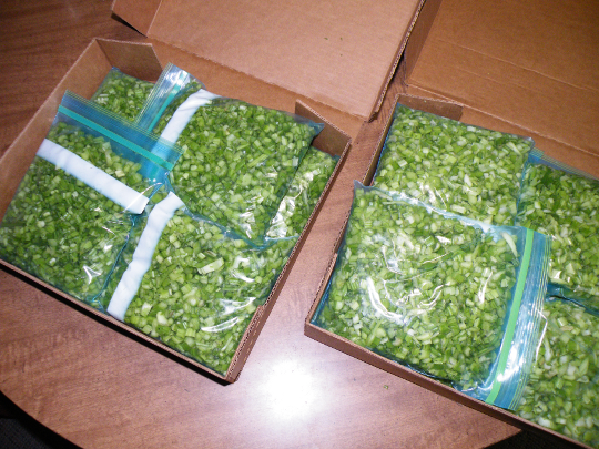 Celery Packed - Ready for the Freezer