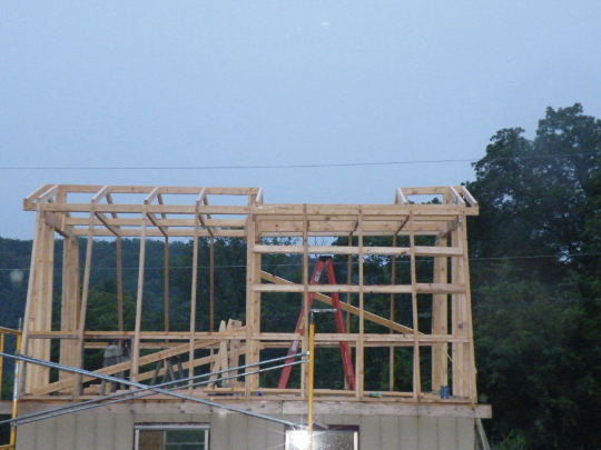Roof Frame With Landing