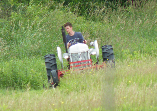 Mowing Fields with the Tractor and Finsih Mower